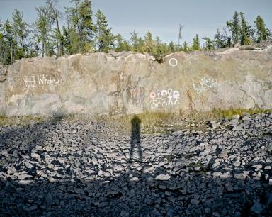 Graffiti, Yellowknife (Mamiya 7II, 80mm, Kodak Ektar 100 film)