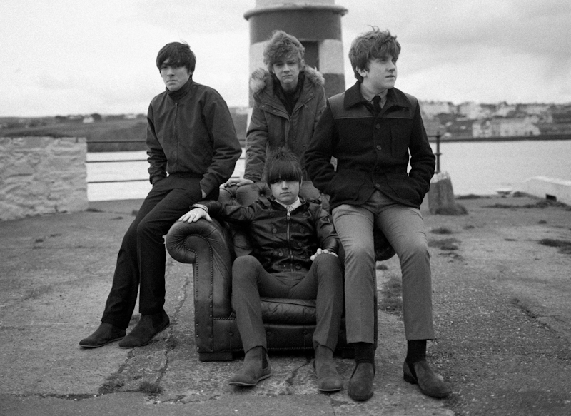The Strypes (l-r) Ross Farrelly, Josh McClorey (sitting), Evan Walsh and Pete O'Hanlon